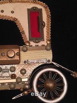 1909 Rolls Royce-Custom Folk Motor Car Wall Art-Sewing & Lador Music Box Parts