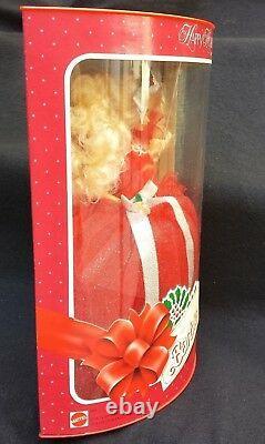 1988 Happy Holidays Barbie Doll Holiday Christmas Enesco Musical Wood Box Lot 2