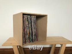 5 x Handmade Vinyl Storage Crate/Box 12 LP Vinyl Record Album Modern