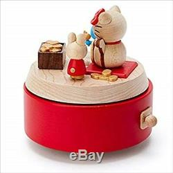 577871 Hello Kitty Wooden Music Box Sanrio Lucky Goods H/4xWith4xD/4 inches Japan