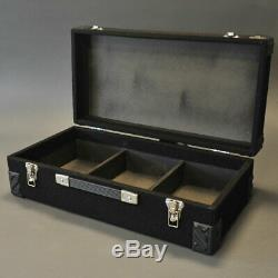 7 Wooden Black Lockable 7 Inch Vinyl Record Storage Box With Carry Handle
