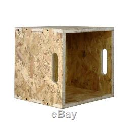 8 x Record cube record crate stacking box shelves vinyl storage 8x flatpack OSB