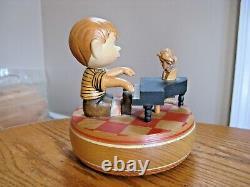 ANRI Italy Peanuts Schroeder Leitmotiv Kaiserkonzert 5 Wood Music Box 1968