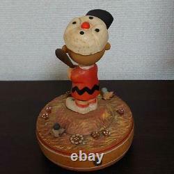 ANRI Peanuts 1926 Snoopy Woody Musical Box Charlie Brown Baseball Interior JAPAN