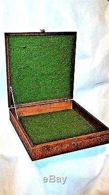ANTIQUE 19c FRENCH WOOD CARVED WithCARVED MEDALLION ON TOP BOX FOR MUSIC PAPER
