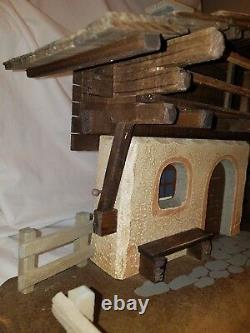 Anri 1985 Handcraft Italy Wood Stable Nativity Manger 6 Scale Music Box 797421