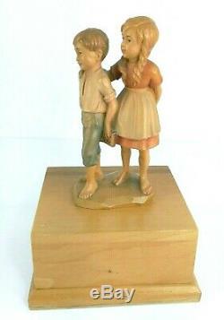 Anri Haffner Music Box Hansel & Gretel Moon River Thorens 1/36 Swiss All Wood