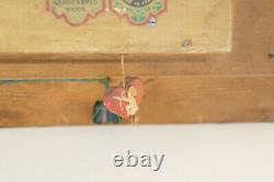 Anri South Tyrolian Art Handcarved Wood Italy 3D Scene Kitchen Hearth Music Box