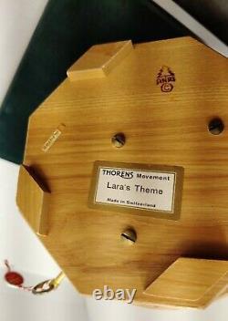 Anri Thorens Carved Wood Music Box Laras Theme Large