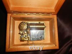Antiq Swiss Pre-reuge Thorens Thuya Wood Veneer Music Box #2 Mozart Tunes Video