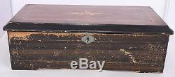 Antique 1886 music box Jacot 10 melodies large wood case recently serviced