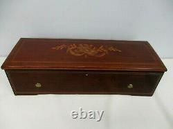 Antique Large Lecoultre Wood Inlay Music Box