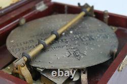 Antique Mira Empress Hand Crank Wood Swiss Music Box & 4 Metal Discs Vintage