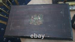 Antique Swiss 3 Bell Musical Box with Wasp and Butterflies Restoration A/F