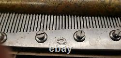Antique Swiss Qualite Excelsior Superextra 8 Air Cylinder Walnut Music Box 6008