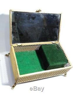 Antique Symphonion Music Box jewelry box mirror. Christianity