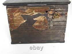 Antique Upright Wood Piano Music Box c. 1900