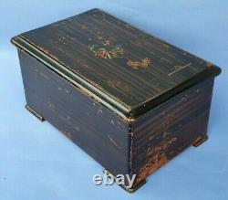 Antique Victorian Picard Geneve Swiss Cylinder Music Box 8 Airs & 3 Bells 38793