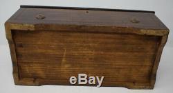 Antique Victorian Swiss Cylinder Music Box Inlaid Wood