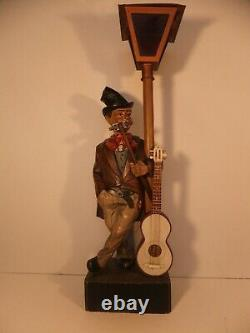 Antique/Vintage Automaton Black Forest Carved Whistler by Karl Griesbaum