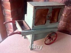 Antique / Vintage Scratch Built Folk Art Toy/model Barrel Organ Musical Box Etc