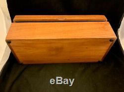 Antique Vintage Wooden Liquor Whisky Casket Box withMusic & Pair Shot Glasses