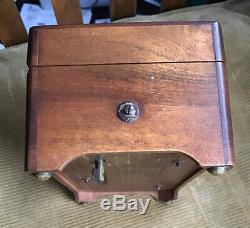 Antique swiss 6 air Cylinder music box Musical Art Nouveau