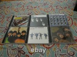 BEATLES Parlophone 16 CD Box Set Collection with Wood Roll Top Cabinet and Book