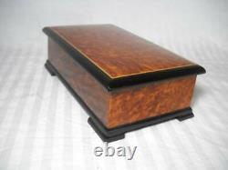 Beautiful Reuge Music Box 3/72 Burl Wood Plays The Thieving Magpie