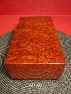 Beautiful Reuge Music Box 52 Note Swiss Movement 4/50 Burl Wood Case Works