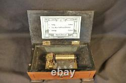 Beautiful Vintage REUGE SWISS WOOD CASE / KEITH HARDING music box-3 AIRES 3/36