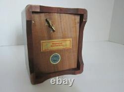 Black Forest Wood Bear Huggler & Cie Swiss Cigarette Ashtray Music Storage Box
