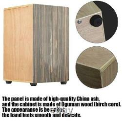 Black Sandalwood Panel Cajon Drum Hand Wooden Box Drum+Oguman Wood Musical Gift