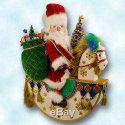 Christopher Radko Starlight Musical Rocking Horse Santa 2000 MwT Box 24 Tall