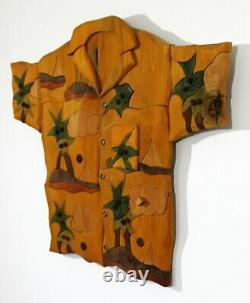 Contemporary Modern J. Burckle Signed Shirt Wall Art Sculpture Music Box 1980s