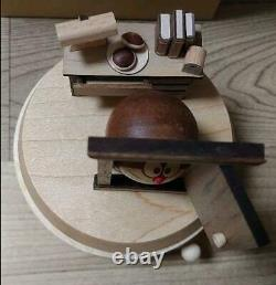 Doraemon Wooden Music Box Genuine Museum Original Rare Free Shipping from Japan