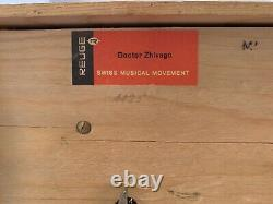 Dr. Zhivago music Box Chalet Handcrafted Wooded Reuge Swiss Musical Movement