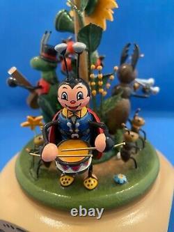 ERZGEBIRGE Musical Beetles Music Box Carved Wood REUGE/ROMANCE HUBRIG Germany