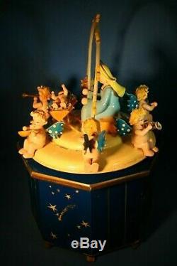 ERZGEBIRGE Steinbach Christmas Nativity Music Box THORENS Wood Angels Germany
