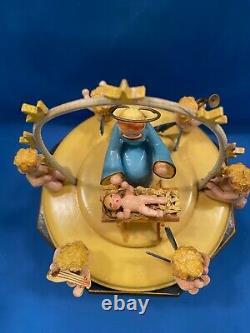 ERZGEBIRGE Steinbach THORENS Music Box Nativity Scene Carved Wood Germany
