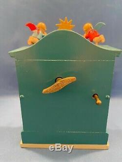 ERZGEBIRGE Wendt Kuhn REUGE Music Box Angel Organ Carved Wood Germany