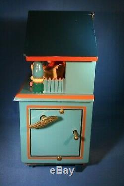 ERZGEBIRGE Wendt Kuhn REUGE Music Box Nursery Carved Wood East Germany BOX