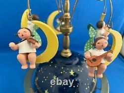 ERZGEBIRGE Wendt Kuhn THORENS Music Box Angel Globe Carved Wood Germany
