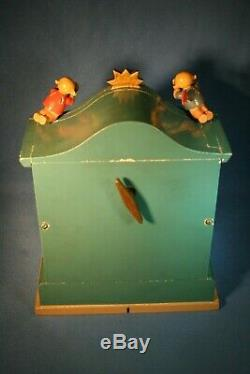 ERZGEBIRGE Wendt Kuhn THORENS Music Box Angel Organ Carved Wood East Germany