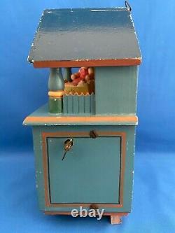 ERZGEBIRGE Wendt Kuhn THORENS Music Box Nursery Carved Wood East Germany