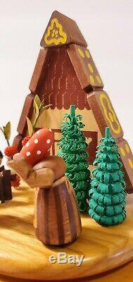 Erzgebirge Wendt Kuhn Music Box Woman With Children Cookies Reuge Wood Germany
