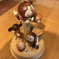 Figure Music Box Limited Rare Fujiko F Fujio Museum Doraemon new unused wood