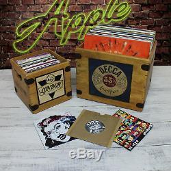 Filmore Jazz Record Box 7 Single Box Vintage Wooden Crate Last Few