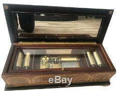 Franklin Mint La Musica d'Italia Grand Opera Music Box-Marquetry Inlaid Wood