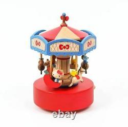 Hello Kitty Carousel Music Box Merry Go Round Sanrio Collection